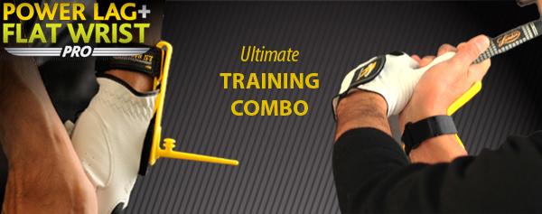 Power Lag and Flat Wrist Combo Golf Trainer, Golf Training