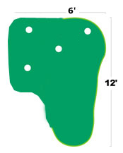 Golf Training Aids: Big Moss Country Club 6'x10' Putting Green