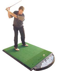 Golf Training Aids: Fiberbuilt 4'x5' Golf Hitting Mat