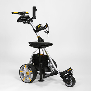 Golf Training Aids: Bat-Caddy X3 Electric Push Cart w/ Free Accessory Kit