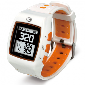 Golf Training Aids: Golf Buddy WT5 GPS Golf Watch - White/Orange