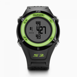 Golf Training Aids: Garmin Approach S2 GPS Golf Watch - Black/Green