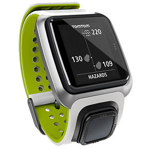 Golf Training Aids: TomTom Golfer GPS Watch - White/Green
