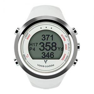 Golf Training Aids: Voice Caddie Hybrid GPS Golf Watch T1 - White
