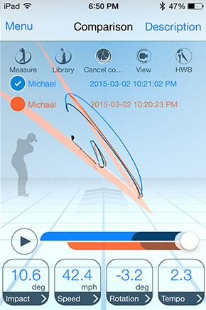 epson m tracer golf swing analyzer golf training aids swing